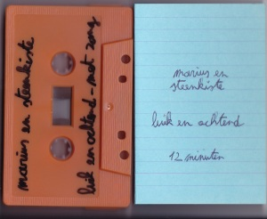 Marius & Steenkiste - Luik & Ochtend - tape cover 2